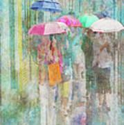 Rainy In Paris 2 Art Print