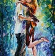 Rainy Kiss Art Print