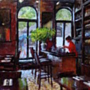 Rainy Morning In The Restaurant Art Print