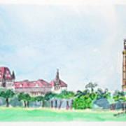 Rajabai Clock Tower And Bombay High Court Art Print