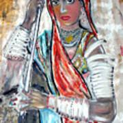 Rajasthani Woman Art Print
