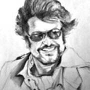 Rajnikanth Print by ilendra Vyas
