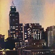 Raleigh Skyscrapers Art Print