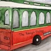 Raleigh Trolley Art Print