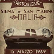 Rally Italia Art Print