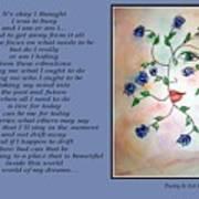 Rambling Rose Blues - Poetry In Art Art Print