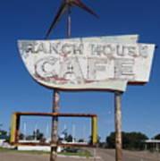 Ranch House Cafe Art Print