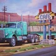 Ranch House Truckstop. Art Print