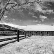 Ranch In Winter Art Print