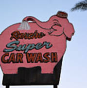 Rancho Super Car Wash  Art Print