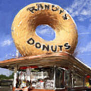 Randy's Donuts Print by Russell Pierce