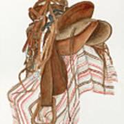 Randy's Saddle Art Print