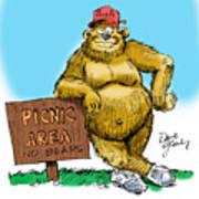 Ranger Bear Art Print by David Lloyd Glover