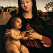 Raphael Madonna And Child C Art Print