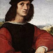 Raphael Portrait Of Agnolo Doni Art Print