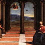 Raphael The Annunciation  Oddi Altar Predella  Art Print