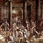 Raphael The Baptism Of Constantine Art Print