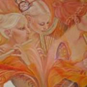 Raphsody On An Iris Art Print