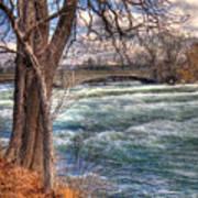 Rapids In Fall Art Print