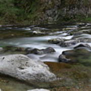 Rapids On The Washougal River Art Print