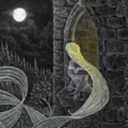 Rapunzel By Night Art Print