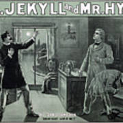 Rare Dr. Jekyll And Mr. Hyde Transformation Poster Art Print