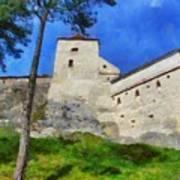 Rasnov Fortress Art Print