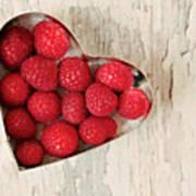 Raspberry Heart Art Print