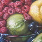 Raspberry Lime Art Print