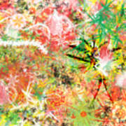 Rasta Flowers Art Print