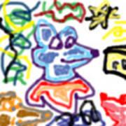 Rat Doodle Art Print