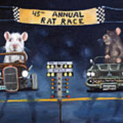 Rat Race Art Print