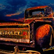 Rat Rod Chevy Truck Art Print