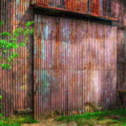 Rats Castle Farm Barn Door Art Print