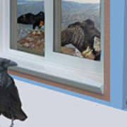Raven And Junco With Condors Art Print