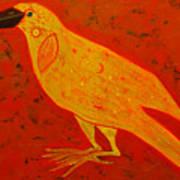 Raven Close Up Art Print