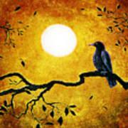 Raven In Golden Splendor Art Print