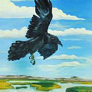 Raven Landing Art Print by Amy Reisland-Speer