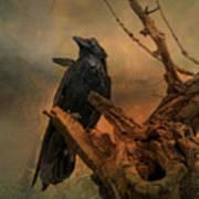 Raven Lover Art Print