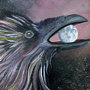 Raven Moon Art Print by Amy Reisland-Speer