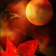 Raven Moon And Poppy 2 Art Print