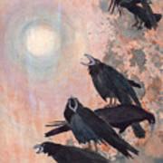 Raven Party Art Print