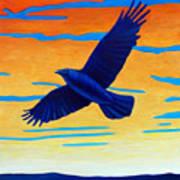 Raven Rising Art Print