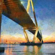Ravenel Bridge Art Print
