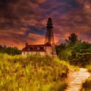 Rawley Point Lighthouse Art Print