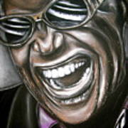 Ray Charles Art Print by Zach Zwagil