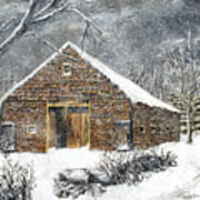 Ray Emerson's Old Barn Print by Jack Skinner