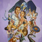 Ray Harryhausen Tribute Seventh Voyage Of Sinbad Art Print