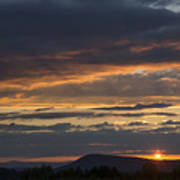 Rays At Sunset Art Print