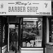 Ray's Barbershop Art Print